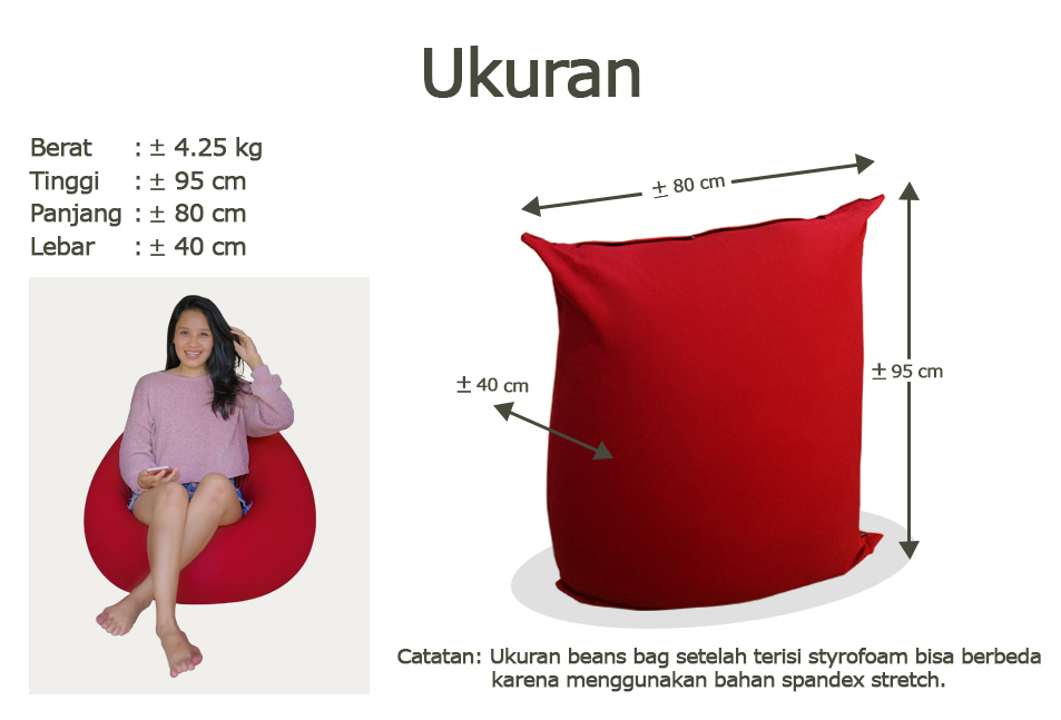 Ukuran Bean Bag
